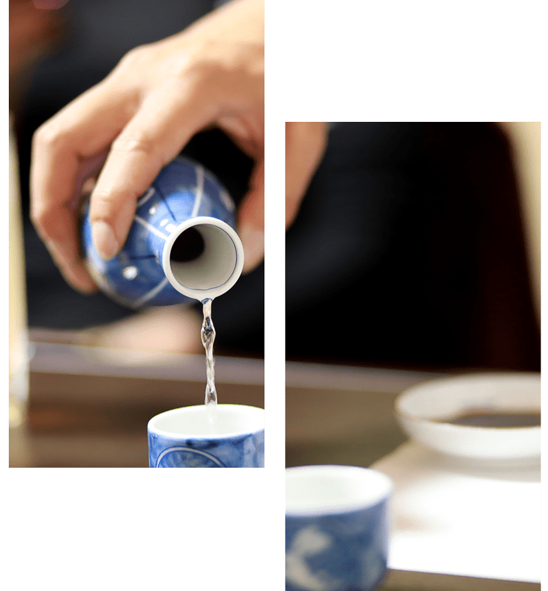 Service saké japonais